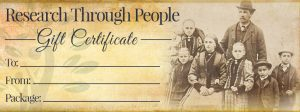 Research Through People Gift certificate