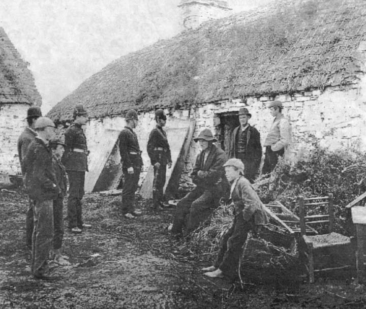 Co. Down - Irish Famine eviction