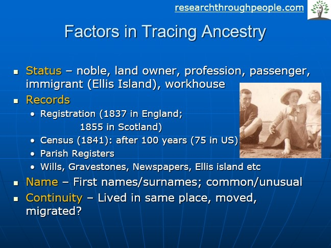 tracing ancestry