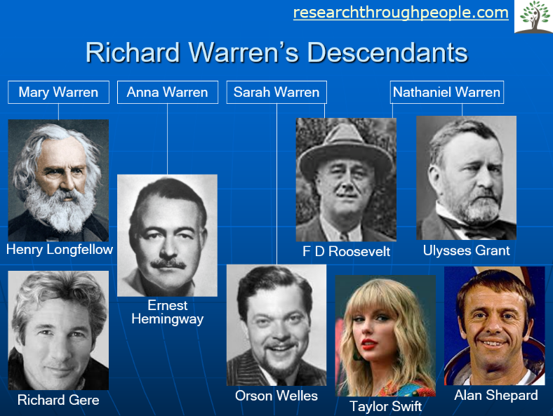 richard warrens descendant