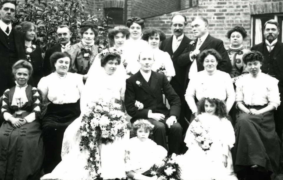English family wedding