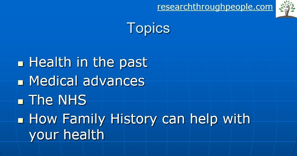 Health and family genealogy