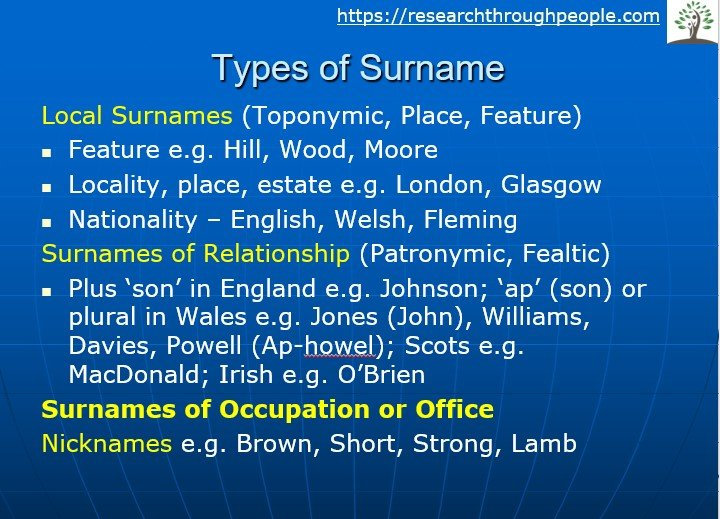 Surname-types-occupation