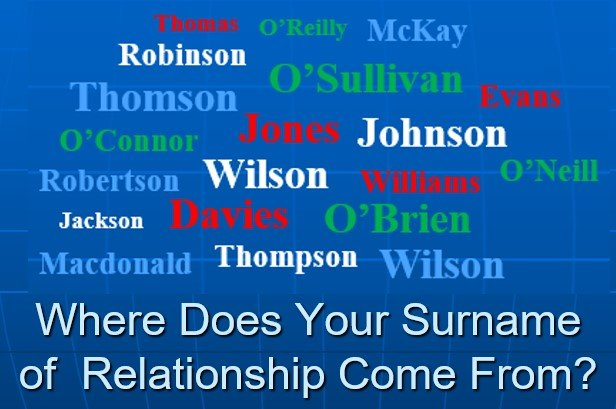 Surnames of Relationship